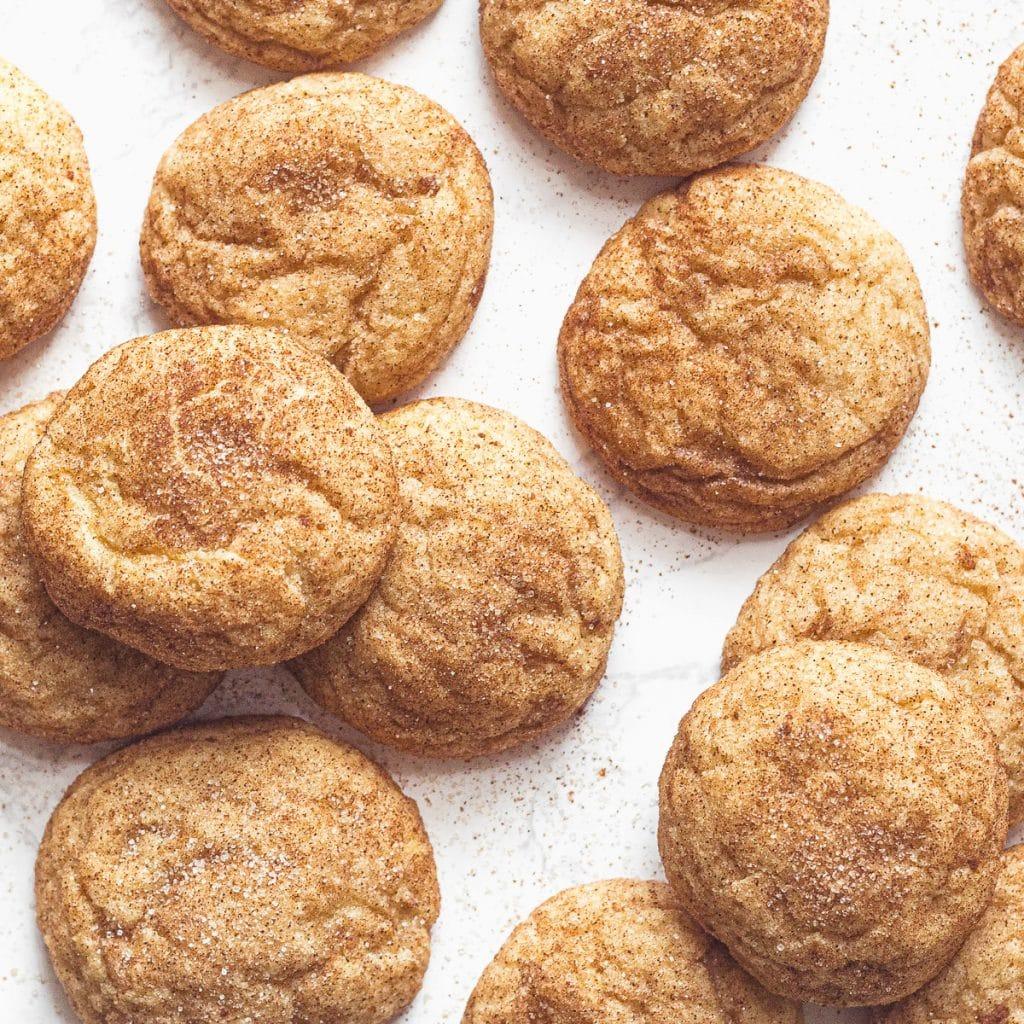 snickerdoodle cookies seen from above