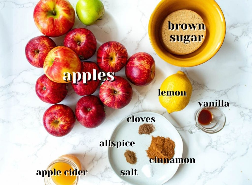 ingredients for instant pot apple butter