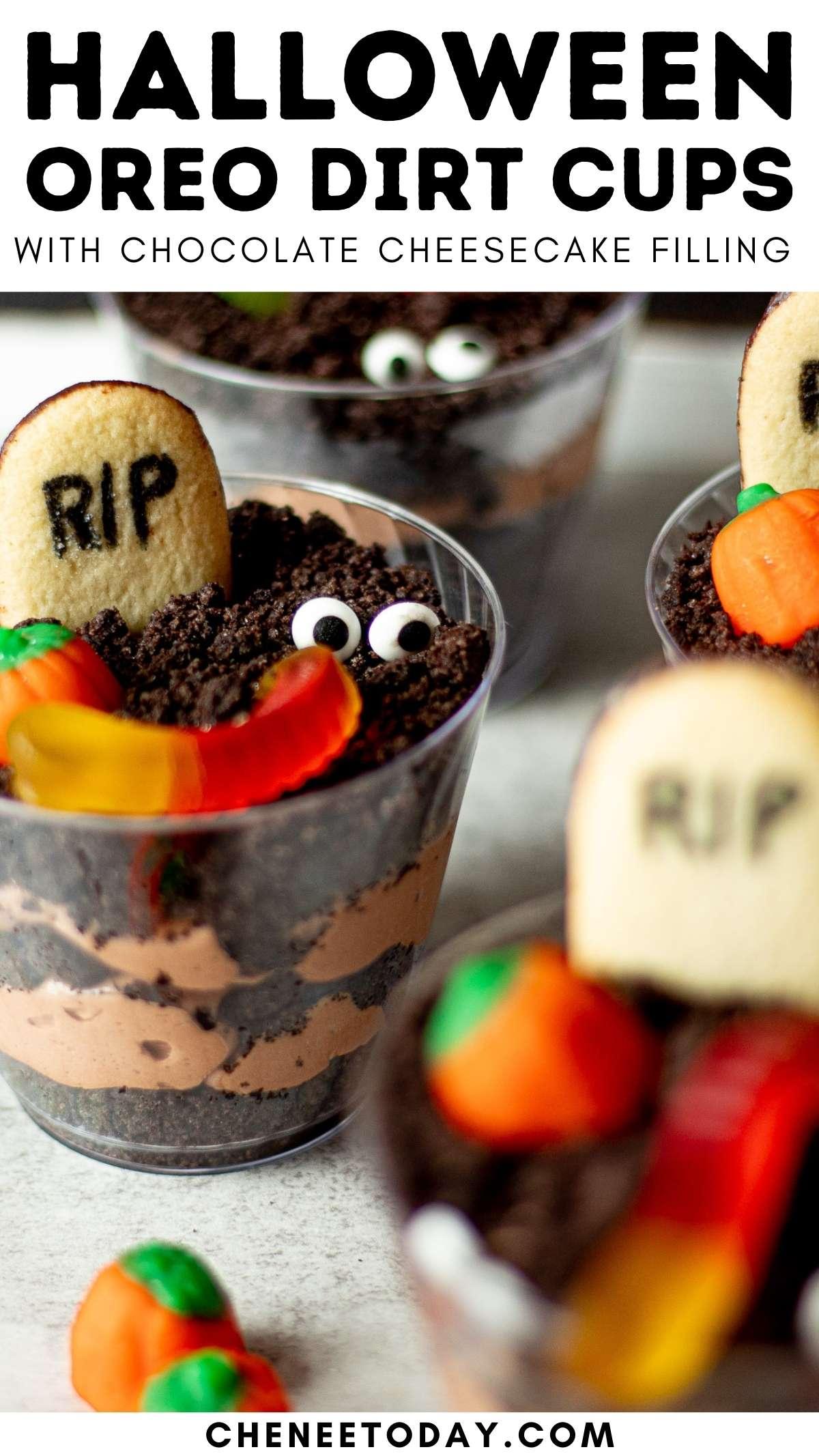 pin on halloween dirt dessert cups
